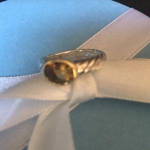David Yurman petite stack Citrine Ring